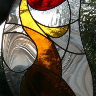 vitraux réalisés par les élèves