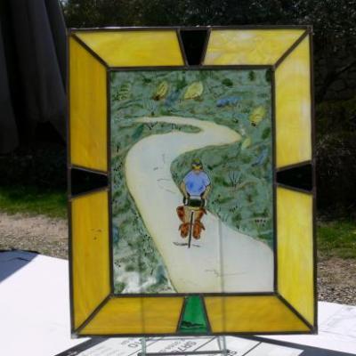 stages vitrail fin mars début avril, peinture